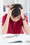 I'm tired of studying! Stock Photography