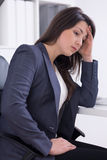 I'm totally overworked Stock Photo