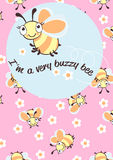 I'm a very buzzy bee children's character Royalty Free Stock Images