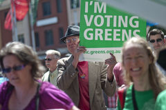 I'm voting Greens Stock Image