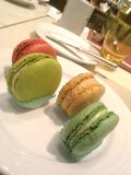 I macarons colourful Fotografia Stock