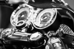 I macro dettagli del motociclo si chiudono su Immagini Stock Libere da Diritti