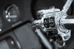 I macro dettagli del motociclo si chiudono su Fotografie Stock