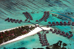 I Maldives aerei Immagini Stock