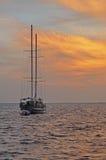 I maldives al tramonto Fotografia Stock Libera da Diritti