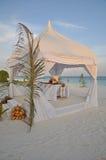 I maldives al tramonto Immagini Stock Libere da Diritti