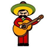 I mariachi equipaggiano con una chitarra Fotografie Stock