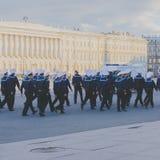 I marinai di autunno 2016 della Russia, St Petersburg sul palazzo quadrano Fotografia Stock Libera da Diritti