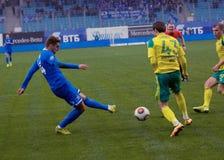 I. Markelov (14) dribble Stock Photo