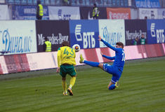 I. Markelov (14) fall down Stock Image