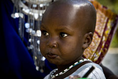 I masai del bambino Immagine Stock