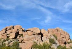 I massi nell'insenatura della caverna, la contea di Maricopa, Arizona, U.S.A. fotografie stock