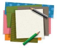 I materiali di carta del mestiere hanno strutturato la bandiera vuota del posto illustrazione di stock