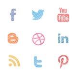 I media sociali hanno impostato Fotografie Stock
