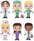 I medici e le infermiere hanno impostato 3 Fotografie Stock Libere da Diritti