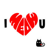 I Meow You Shape of Heart Royalty Free Stock Photography