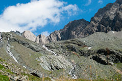 i 3798 metri del Grossglockner NELLE ALPI austriache un il bello giorno di cielo blu in primavera Immagine Stock