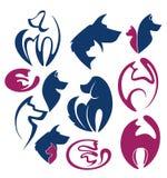 I miei animali domestici favoriti, raccolta di vettore dello sym degli animali Immagine Stock