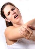 I miei Hurts del gomito Fotografie Stock