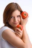 I miei pomodori naturali Fotografia Stock