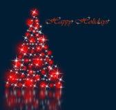 I migliori precedenti dell'albero di Natale con la riflessione Immagini Stock