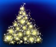 I migliori precedenti dell'albero di Natale con la riflessione Fotografie Stock Libere da Diritti