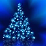 I migliori precedenti dell'albero di Natale con la riflessione Immagini Stock Libere da Diritti