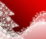 I migliori precedenti dell'albero di Natale con la riflessione Immagine Stock Libera da Diritti