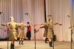 I militari ballano Fotografia Stock