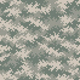 I militari cammuffano il modello del pixel senza cuciture tileable Fotografia Stock