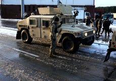i militari degli Stati Uniti in Polonia fotografia stock libera da diritti
