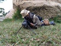 I militari del tiratore franco scale12 di PMC modellano fotografie stock libere da diritti