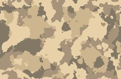 I militari di struttura della stampa cammuffano l'esercito senza cuciture di ripetizioni che cerca la sabbia marrone del fango illustrazione vettoriale
