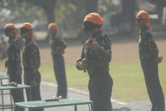 I MILITARI INDONESIANI RIFORMANO Immagini Stock Libere da Diritti