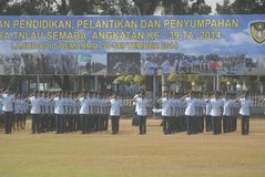 I MILITARI INDONESIANI RIFORMANO Fotografia Stock Libera da Diritti
