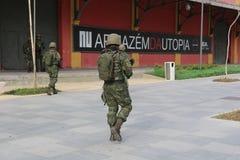 I militari non rinforzeranno la sicurezza di Rio de Janeiro Carnival Immagine Stock