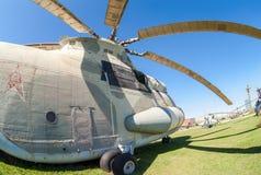 I militari pesanti trasportano l'alone dell'elicottero Mi-26 Immagine Stock Libera da Diritti