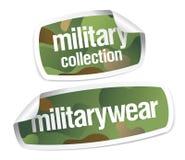 I militari portano gli autoadesivi dell'accumulazione Fotografia Stock