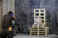 I militari a prova di proiettile conferiscono a Fotografia Stock