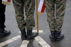 I militari radunano Immagine Stock