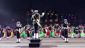 I militari reali di Edimburgo tatuano stock footage