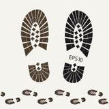 I militari trascinano gli stivali della caviglia con le sogliole strutturate - vector eps10 illustrazione di stock