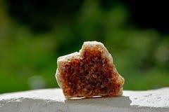 I minerali lapidano nel marrone Fotografia Stock