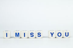 I MISS YOU Alphabet Cubes Royalty Free Stock Photo