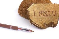 I miss you.Closeup Stock Image