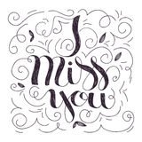 I miss you lettering Royalty Free Stock Image