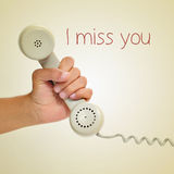I miss you Stock Image