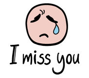 I miss you message Stock Photo
