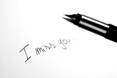 I miss you note Royalty Free Stock Images