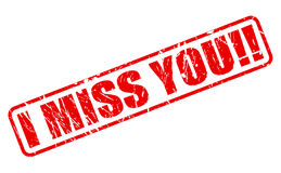 I MISS YOU red stamp text Royalty Free Stock Image